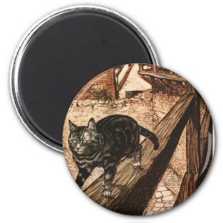 The Cat and Mouse in Partnership 6 Cm Round Magnet
