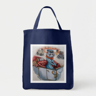 The Cat Chauffeur Grocery Tote Bag