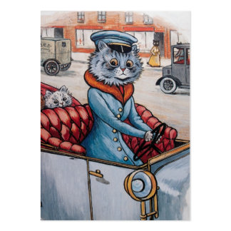 The Cat Chauffeur - Two Sided Pack Of Chubby Business Cards