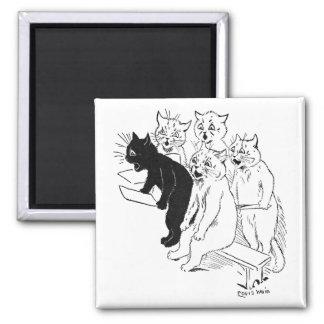 The Cat Chorus Square Magnet