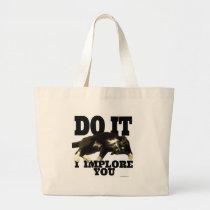 The Cat Demands Large Tote Bag