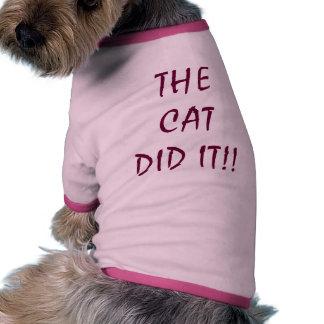 THE CAT DID IT DOGGIE TSHIRT