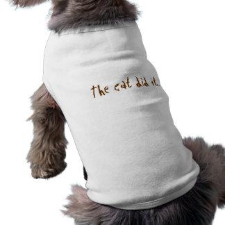 The Cat Did It Doggie Tee