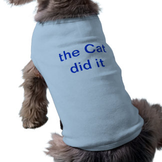 the cat did it sleeveless dog shirt
