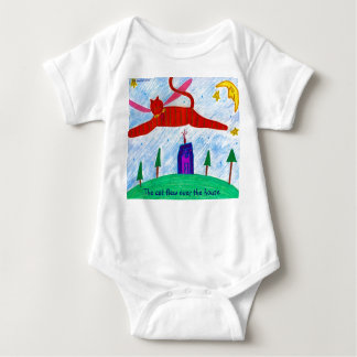 The cat flew over the house baby bodysuit