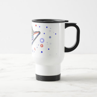 The Cat Flew to the Moon ! Coffee Mug