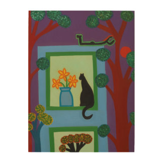 The Cat From Askew Crescent 2008 Wood Print