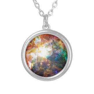 The Cat Galaxy Round Pendant Necklace