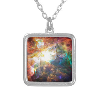 The Cat Galaxy Square Pendant Necklace