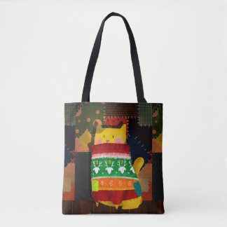 The Cat in the Ugly Sweater Tote Bag