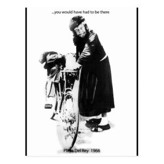 The Cat Lady (Woman) of Playa del Rey Post Cards