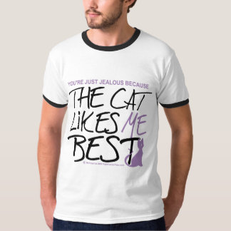 The Cat Likes Me Best T-Shirt