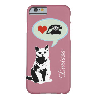 the cat loves telephone barely there iPhone 6 case