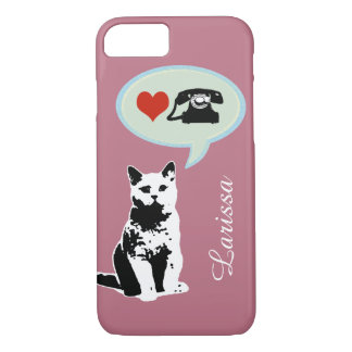 the cat loves telephone iPhone 7 case