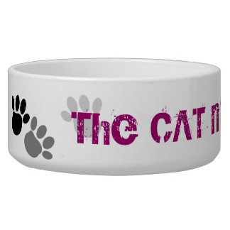 The CAT made me Do it !! Pet Bowl