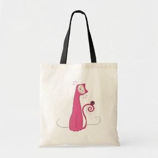 The Cat - Pink Tote Bag