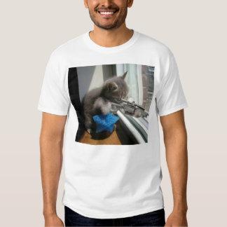 The cat sniper t shirts