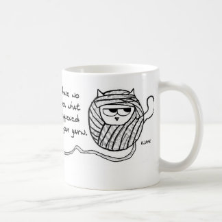 The Cat Steals Your Yarn - Funny Cat Coffee Mug