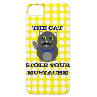 The cat stole your mustache! iPhone 5 cases