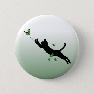 The Cat & The Butterfly 6 Cm Round Badge