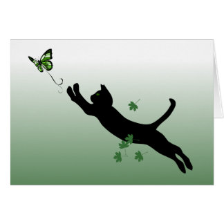 The Cat The Butterfly Greeting Card