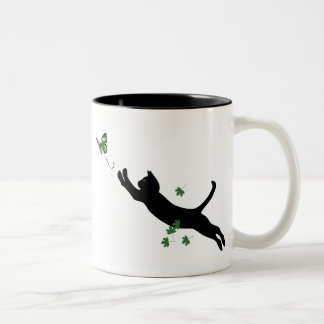 The Cat & The Butterfly Two-Tone Mug