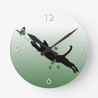 The Cat & The Butterfly Wall Clocks