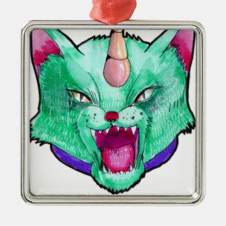 the cat unicorn christmas ornament