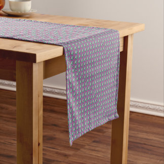 the cat unicorn pattern short table runner