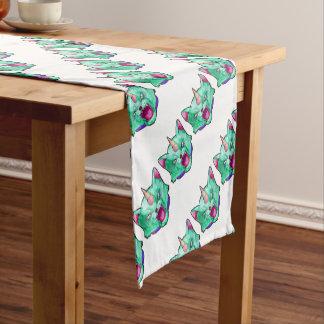 the cat unicorn short table runner