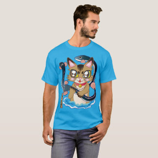 The cat ♪ which discovers the eel T-Shirt