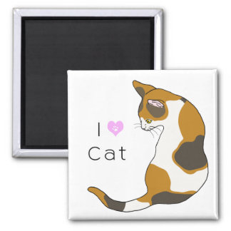 The cat which turns around (tortoise-shell cat) magnet