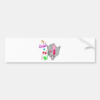 The CAT Wink 1.PNG Bumper Sticker