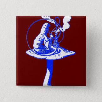 The Caterpillar in Blue 15 Cm Square Badge