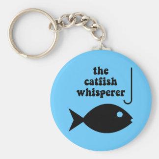 the catfish whisperer basic round button key ring