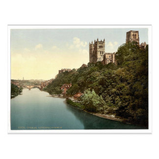 The cathedral and castle from the bridge, Durham, Postcard