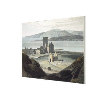The Cathedral at Iona, from 'A Voyage Around Great Canvas Print