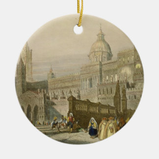 The Cathedral at Palermo, Sicily, engraved by John Christmas Ornament