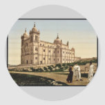 The cathedral, Carthage, Tunisia vintage Photochro Round Stickers