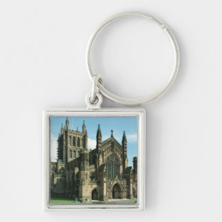 The Cathedral Church of the Blessed Virgin Mary an Silver-Colored Square Key Ring