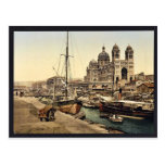The cathedral, Marseilles, France vintage Photochr Postcard