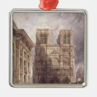 The Cathedral of Notre Dame, Paris, 1836 Christmas Ornament