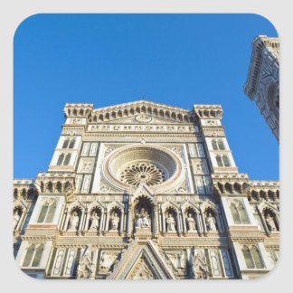 The cathedral Santa Maria del Fiore , Firenze, Square Sticker
