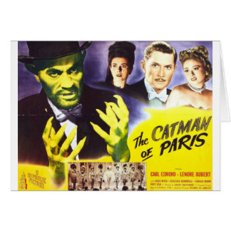 The Catman of Paris, Vintage Movie Horror to Card