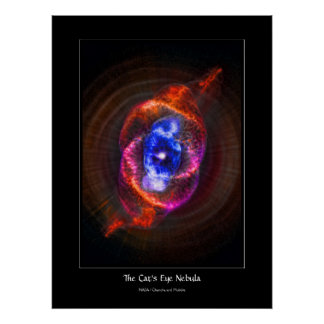 The Cats Eye Nebula - expanding red giant Posters