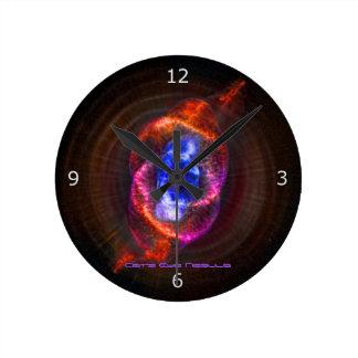 The Cats Eye Nebula Round Clock