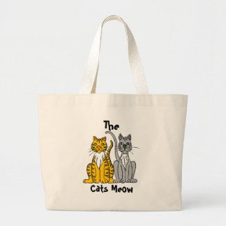 The, Cats Meow Large Tote Bag