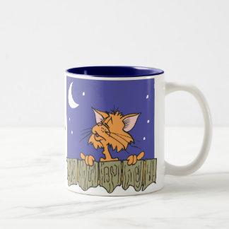 The Cats Meow Two-Tone Coffee Mug