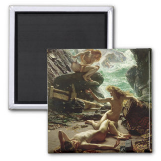 The Cave of the Storm Nymphs, 1903 (oil on canvas) Square Magnet