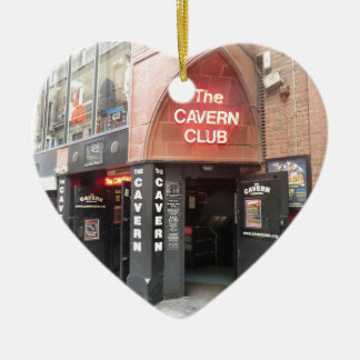 The Cavern Club in Liverpool's Mathew Street Ceramic Heart Decoration